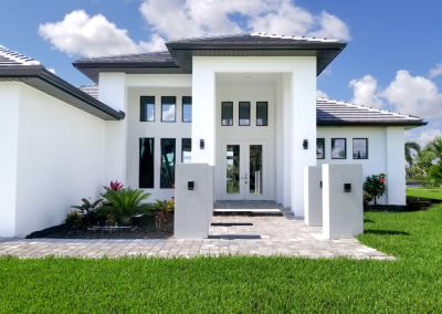 Cape Coral Paver Home Front