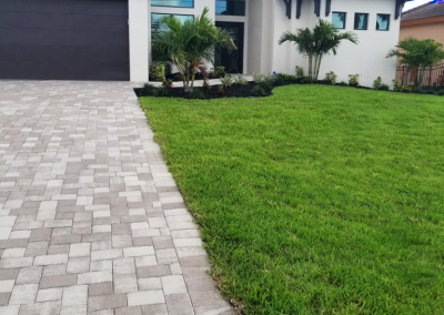 Cape Coral Paver Driveway and walkway