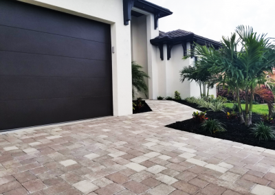 Cape Coral Paver driveway with walkway