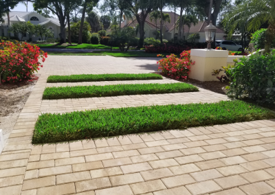 Naples Paver Driveway with Turf