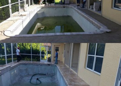 Before and After paver pool deck