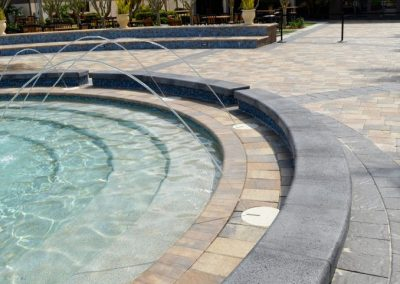 Commercial Pavers around fountain