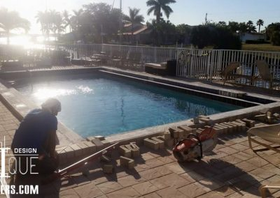 paver pool deck installation