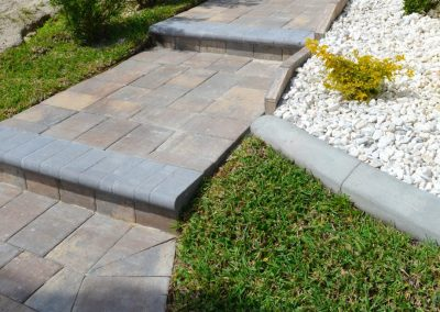 Paver Steps and Paver Walkways Installation