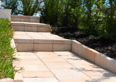Paver steps in naples