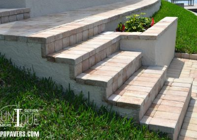 Paver Steps and Retaining Wall in Cape Coral