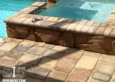 Naples Paver Pool Patio with rocks