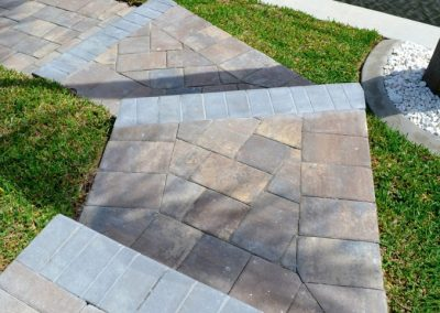 Cape Coral Paver Steps Installation