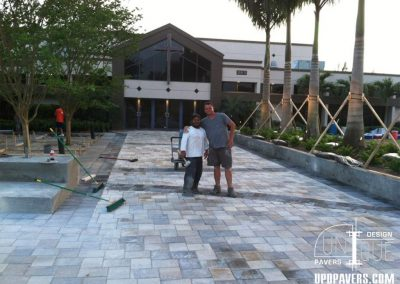 Church Paver Walkway with Owner Mike Cullen and UPD team member