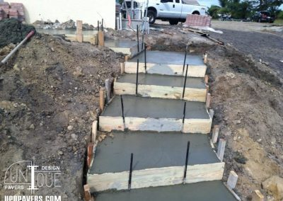Paver Walkway and Paver Steps Installation
