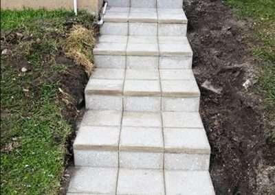 Paver Walkway and Paver Steps