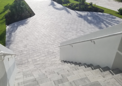 Paver Driveway and Paver Stairs