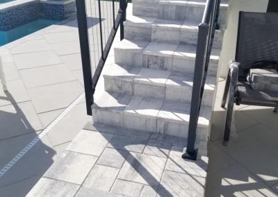 Paver Steps and Paver Pool Deck