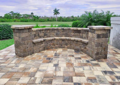 Paver Patio with Bench