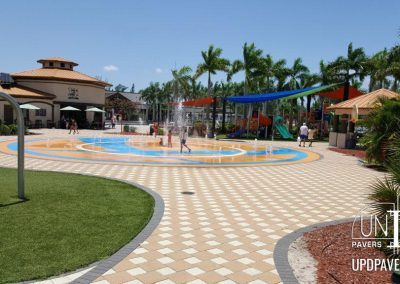 Commercial Splashpad pavers