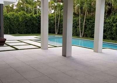 concrete blanco porcelain pavers