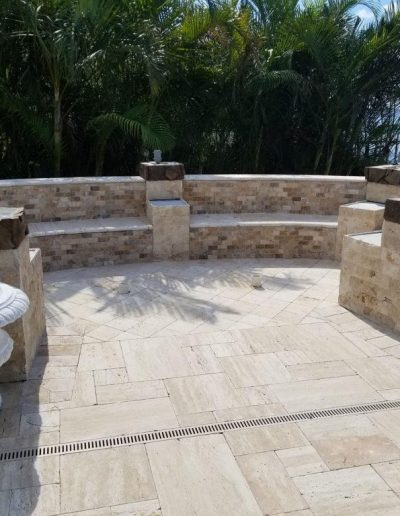 Outdoor Firepit Paver Patio Project