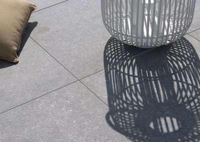 light grey porcelain pavers