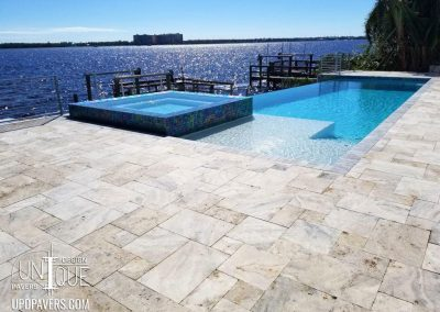 Fort Myers paver pool deck