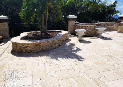 Fort Myers Paver patio and paver planters