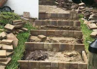 Before and After Paver Steps Project