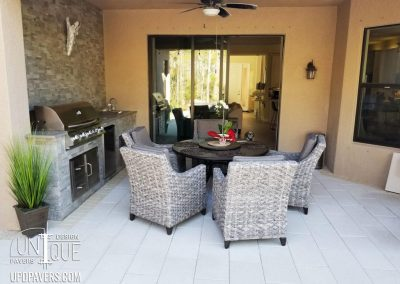 Tarrette Outdoor Dining with Outdoor Kitchen and Paver Patio