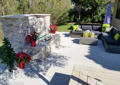 Tarrett Outdoor Firepit with Paver Patio