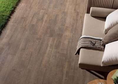 walnut wood porcelain plank pavers